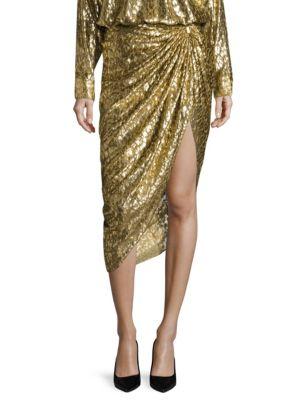 Metallic Silk Sarong Skirt