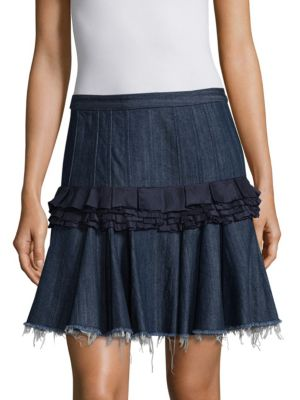 Denim Cotton Mini Skirt