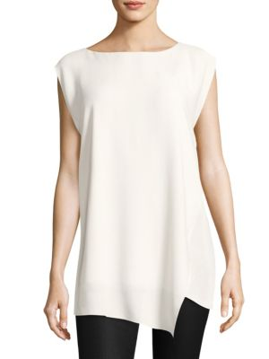 Bateau Neck Silk Tunic by Eileen Fisher
