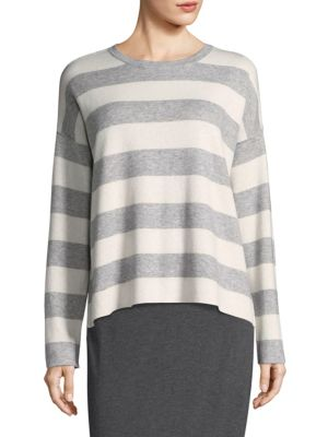 Roundneck Long-Sleeve Top by Eileen Fisher