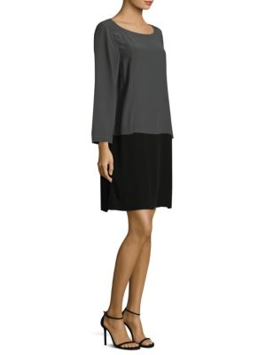 Two-Tone Shift Dress