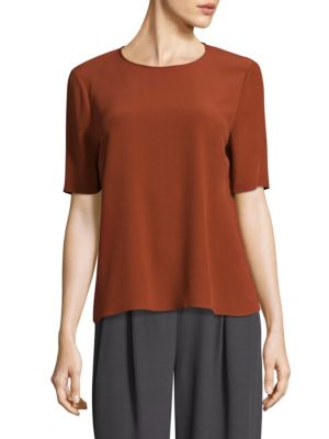 Crepe Tee by Eileen Fisher