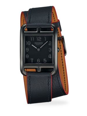 Cape Cod, Stainless Steel & Leather Strap Watch