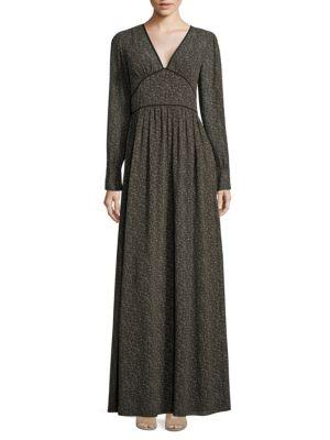 Cole Printed V-Neck Dress