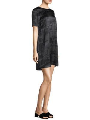 Gaia Printed Silk Shift Dress