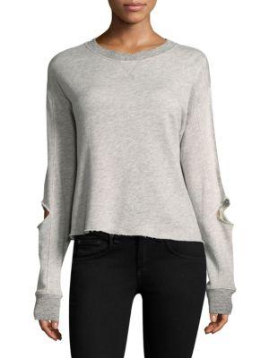 Savannah Distressed Cotton Sweatshirt