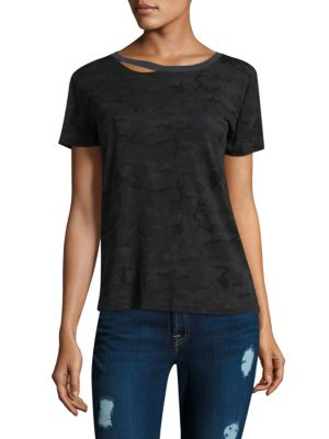 Harlow Camo Print Short-Sleeve Cotton Tee by n:Philanthropy