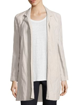 Notch Collar Long Jacket