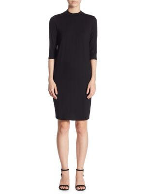 Mockneck Sheath Dress