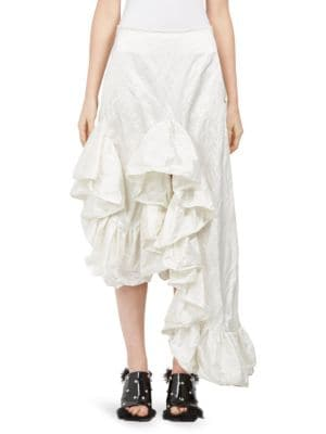 Taffeta Ruffle Skirt