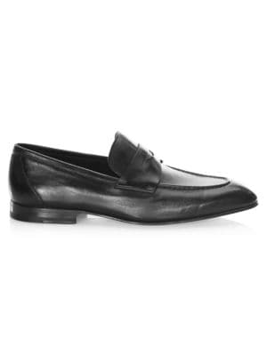 Gannon-1 Leather Penny Loafers