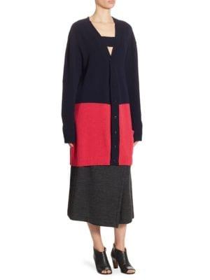 Wool Colorblock Cardigan