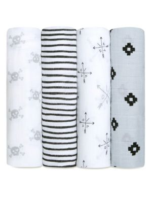 Baby's Set of Four Classic Cotton Swaddles