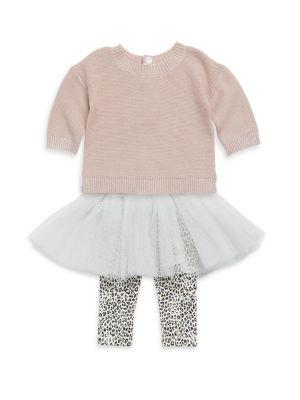 Baby's Sweater Rib-Knit Top & Leggings Set