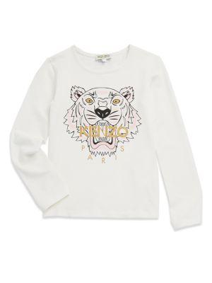 Toddler's, Little Girl's & Girl's Printed Long Sleeve Shirt