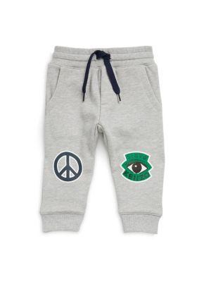 Baby's Peace Badge Cotton Sweatpants