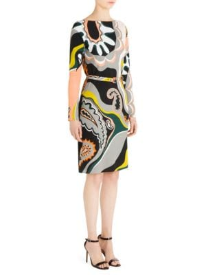 Silk Jersey Paisley Dress