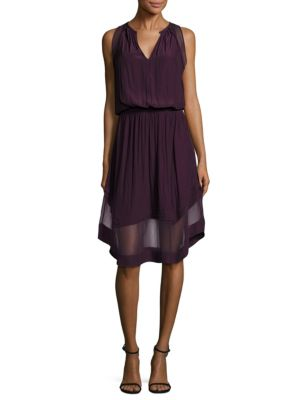 Quinn Chiffon Hem Midi A-Line Dress