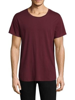 Curved Hem Cotton Tee
