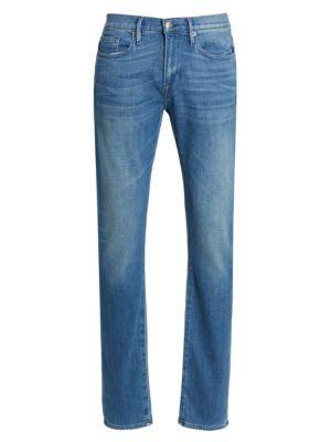 L'Homme Slim Fit Distressed Jeans