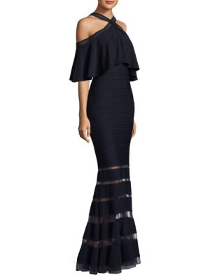 Cold Shoulder Mermaid Gown