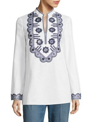 Tory Embroidered Tunic by Tory Burch