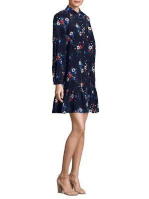 Gabrielle Floral-Print Silk Dress