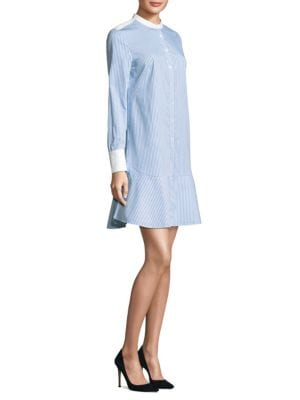Cora Striped Shirt Dress