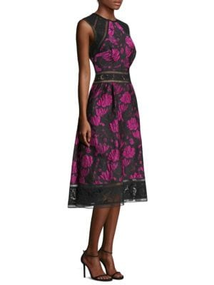 Printed Tea Knee-Length Dress