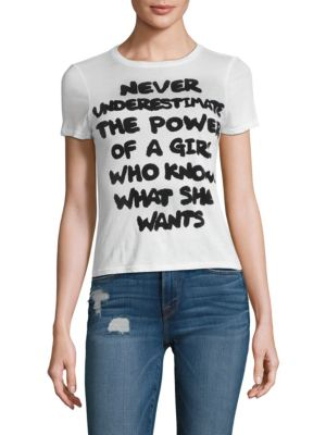 Cicely Be The Change Classic Tee by Alice + Olivia