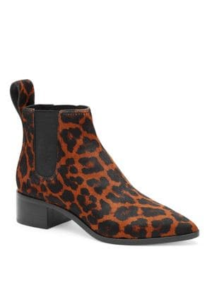 Nellie Leopard-Print Calf Hair Booties