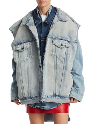 Denim Double Vest