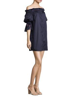 Dakota Decorated Off-the-Shoulder Dress
