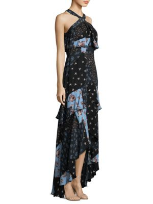 Filipa Silk Hi-Lo Maxi Dress