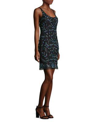 Embellished Sleeveless Sheath Dress