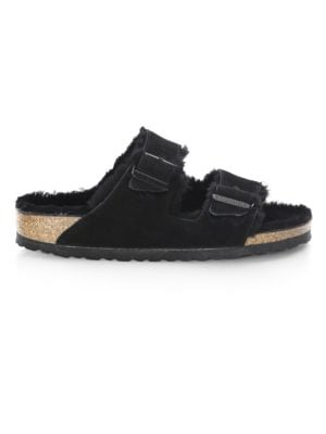 Arizona Shearling-Lined Suede Sandals