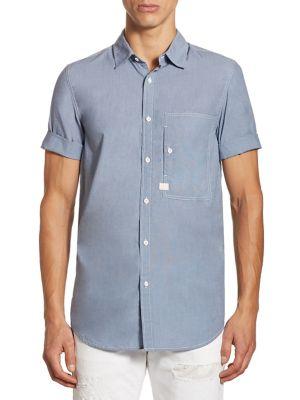Stalt Denim Cotton Casual Button-Down Shirt