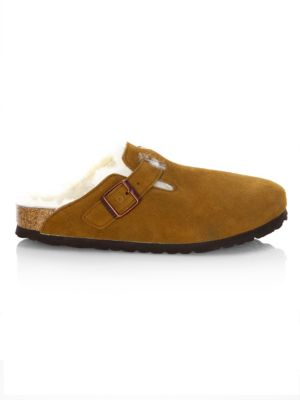 Boston Shearling Lined Suede Clogs