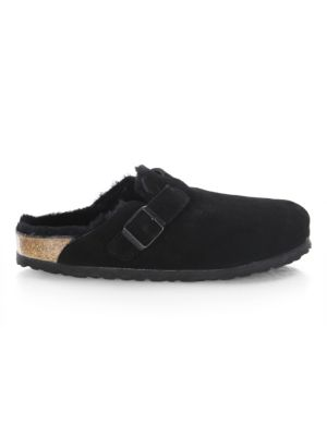 Boston Shearling and Suede Slip-On Clogs