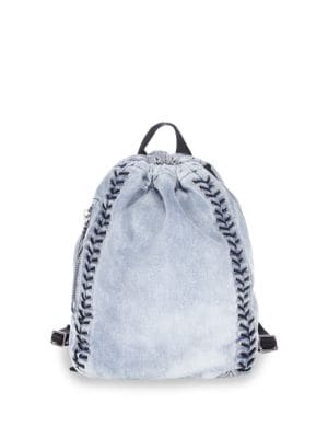 Go-Go Medium Washed Denim Backpack