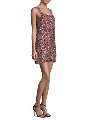 Alexis Woman Sequined Silk Mini Dress Multicolor Size M Alexis Discount Huge Surprise Sale Cheap Online Latest Collections For Sale OY56l