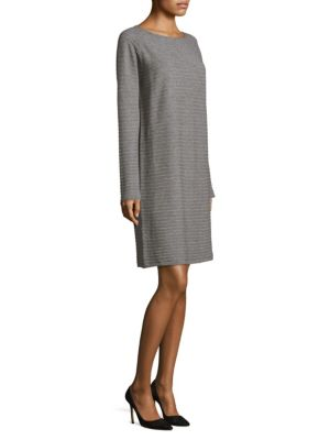 Bateau Rib Wool Dress