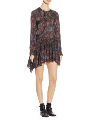Ciamo Silk Long Sleeve Dress