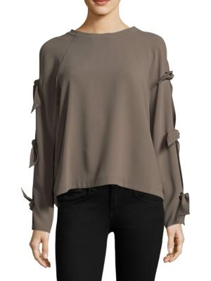 Woven Cold Shoulder Top by BCBGMAXAZRIA