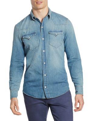 Denim Vail Western Casual Button-Down Shirt