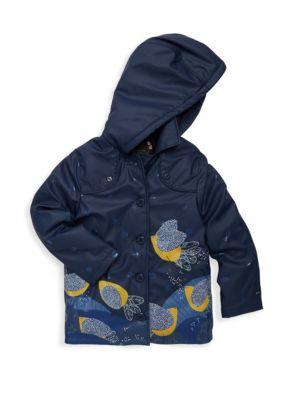 Toddler's, Little Girl's & Girl's Windbreak Printed Raincoat
