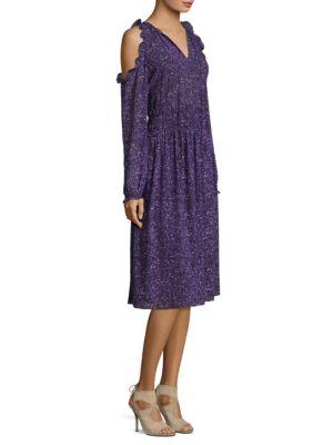 Teed Cold Shoulder Shift Dress