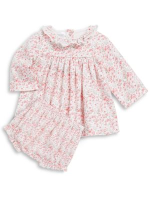 Baby's Floral-Print Dress & Bloomer Set