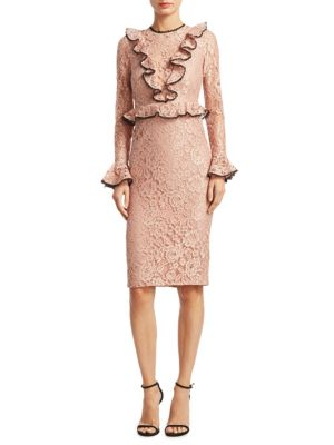 Exclusive Mariette Lace Sheath Dress