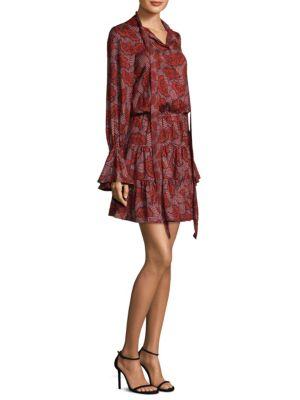 Elizavetta Bell Sleeve Mini Dress